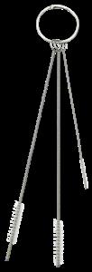 Набор щеток в количестве 3-х штук, диаметром 2, 5, 6 мм, мягкий ворс