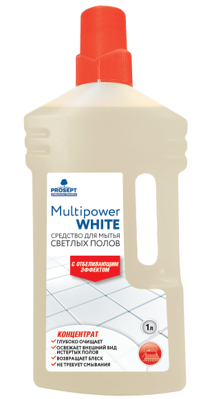 Multipower White. Средство для мытья светлых полов